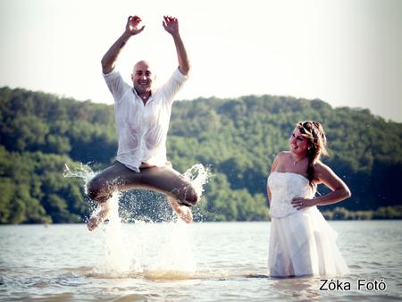 Menyasszony és a vőlegény mérkőzés készítése