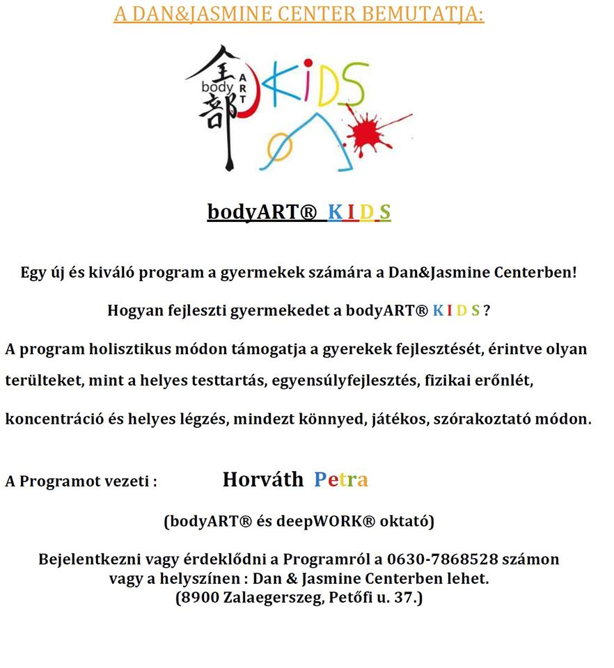 Bodyart Kids Zalamedia A Helyi Ertek